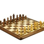 Original Range Chess Set Sheesham Flat Board 14″ With Downhead Staunton Chess Pieces