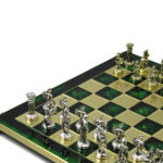 Metal Range Chess Set Emerald Green 13″ – 301G