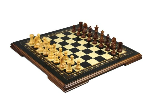 wooden helena charcoal black chess with staunton chess pieces