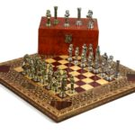 "Premium Range Chess Board With Metal Pieces ""Origin"" – CRWS13″"