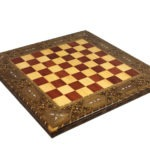 Premium Range Solar Chess Board With German Staunton Wooden Pieces 3″ – CRWL17″