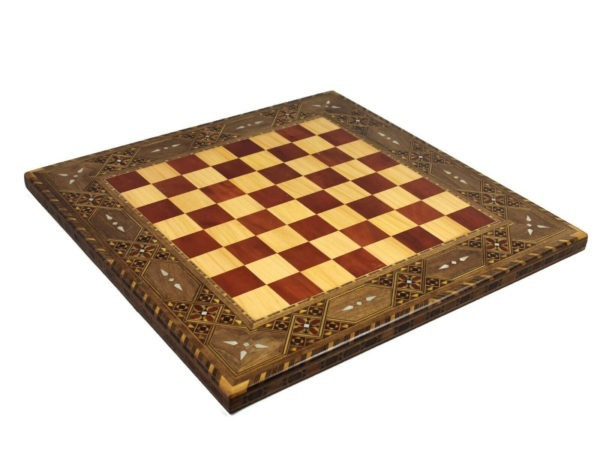 chess board wooden solar