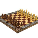"Premium Range Chess Board With Wooden Pieces ""Rose"" – CRWML17″"