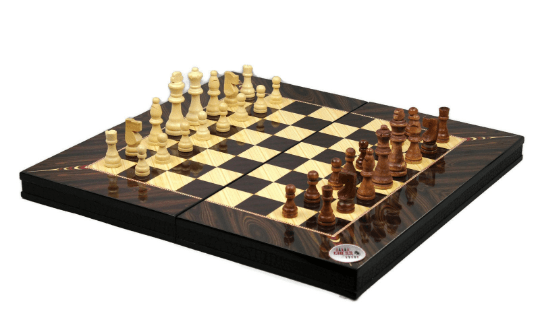 chess and backgammon set yenigun walnut