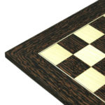 "Executive Range Chess Board ""Tiger Ebony & Maple"" – 20″"