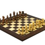 Executive Range Wooden Chess Set Macassar Board 20″ Weighted Classic Staunton Pieces