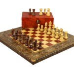 "Premium Range Chess Board With Wooden Pieces ""Solar"" – CRWL17″"