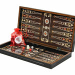 "Classic Range Backgammon Set ""Pearl""- 19″"