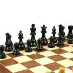 French Lardy Chess Pieces Staunton Ebonised Boxwood 3.75″