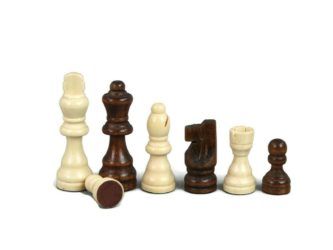 "Chess Pieces With Sliding Storage Box ""Wooden"""
