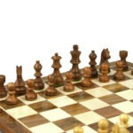 Original Range Chess Set Sheesham Flat Board 16″ With Downhead Staunton Chess Pieces