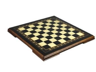"Premium Range Helena Chess Board ""Charcoal Black Ebony"" – 19″ 2618B"