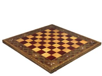 "Premium Range Chess Board ""Burgundy"" – CRMD18″"