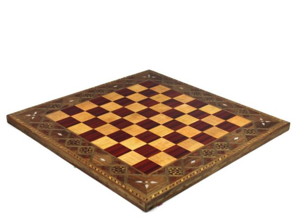 wooden chess board burgundy