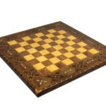 Premium Range Lineage Chess Board With Sheesham German Staunton Wooden Chess Pieces 3″ – CWWL17″