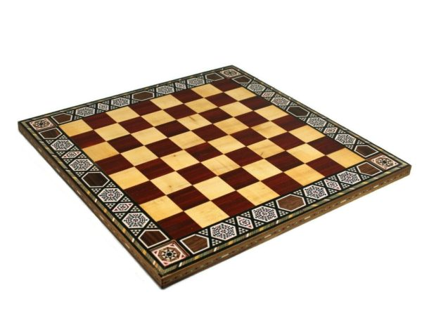 chess board wooden rose
