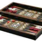 "Classic Range Backgammon Set ""Mother of pearl""- 14″"