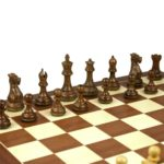 Executive Range Wooden Chess Set Mahogany Board 20″ Weighted Professional Staunton Pieces