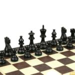 Atlantic Classic Chess Pieces Staunton Ebonised Boxwood 3.75″