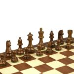 Economy Range Wooden Chess Set Mahogany Board 16″ Weighted Sheesham German Staunton Pieces 3″