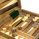 "Original Range Backgammon Set ""Sheesham"" – 14″"