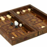 "Premium Range Backgammon Set ""Rustic""- 2SWWS12″"