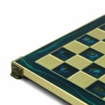 Metal Range Chess Set Sapphire Blue 18″ – 500B