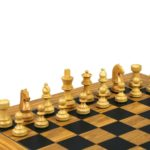 Executive Range Wooden Chess Set Olive Board 18″ Weighted German Staunton Pieces