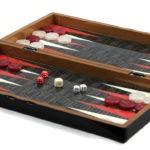 """Classic Range Chess & Backgammon Set """"Black & White""""- 20″"""
