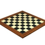Executive Range Wooden Chess Set Palisander Board 20″ Weighted Ebonised Staunton French Knight Pieces 3.75″