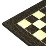 Executive Range Wooden Chess Set Tiger Ebony Board 20″ Weighted Ebonised German Staunton Pieces 3.75″