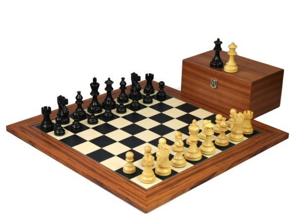 palisander staunton chess set with ebonised classic staunton chess pieces