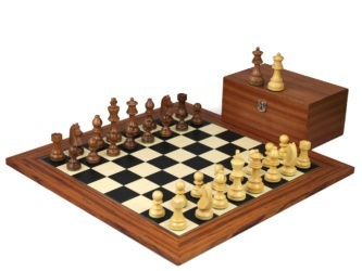 Executive Range Wooden Chess Set Palisander Board 20″ Weighted Sheesham German Staunton Pieces 3.75″
