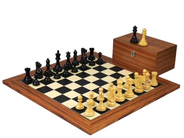 palisander staunton chess set with professional staunton chess pieces ebonised