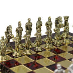 Metal Range Chess Set Ruby Red 13″ – 301R