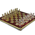 Metal Range Chess Set Ruby Red 18″ – 500R