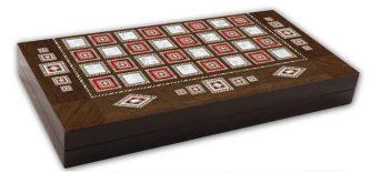 "Classic Range Backgammon Set ""Pearl""- 20″"