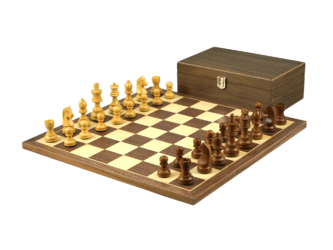 Economy Range Wooden Chess Set Walnut Board 16″ Weighted Sheesham German Staunton Pieces 3″
