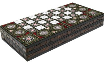 "Classic Range Backgammon Set ""Mother of Pearl""- 17″"