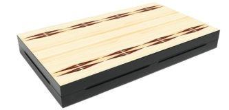 """Classic Range Backgammon Set """"Trendy White""""- 20″"""