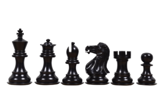 1884 Morphy Series Professional Staunton Ebonised Boxwood 3.75″ Chess Pieces With Storage Box