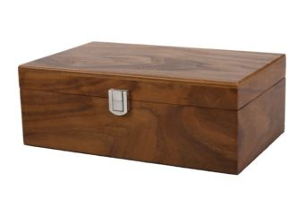 Chess Box Large Walnut With Metal Clasp 4.25″