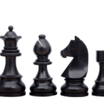 Downhead German Staunton Chess Pieces Ebonised Boxwood 3.75″