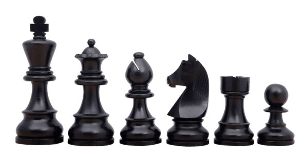 ebonised downhead german staunton chess pieces
