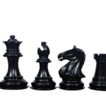 Fierce Knight Chess Pieces Staunton Ebonised Boxwood 3.75″