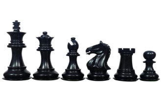 Fierce Knight Staunton Ebonised Boxwood 3.75″ Chess Pieces With Storage Box