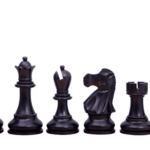 1972 Reykjavik Chess Pieces Broadbase Series Staunton Ebonised Boxwood 4″