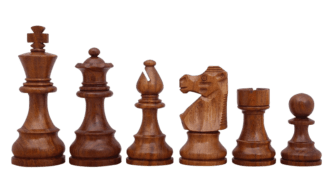 French Lardy Staunton Sheesham Boxwood 3.75″ Chess Pieces With Storage Box