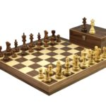 Master Range Wooden Chess Set Walnut Board 21″ Weighted Sheesham Atlantic Classic Staunton Pieces 3.75″
