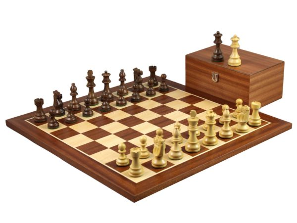 staunton chess set with sheesham french knight chess pieces